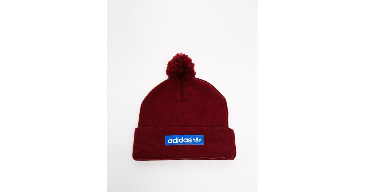 62e253db4a79fb adidas Originals Logo Bobble Hat M30723 in Red for Men - Lyst