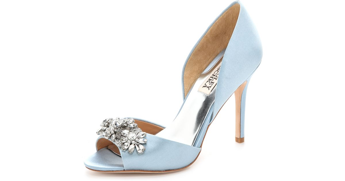 badgley mischka bridal blue authentic