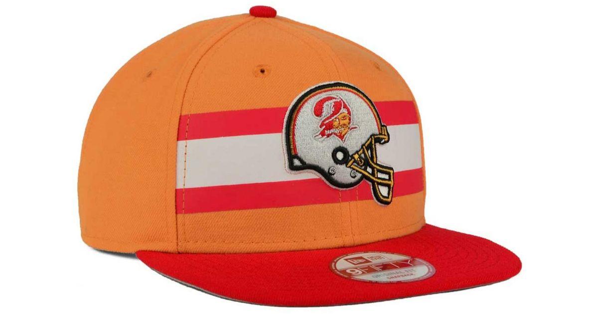 Lyst - KTZ Tampa Bay Buccaneers Retro Striped 9fifty Snapback Cap in Orange  for Men 5d51801be00