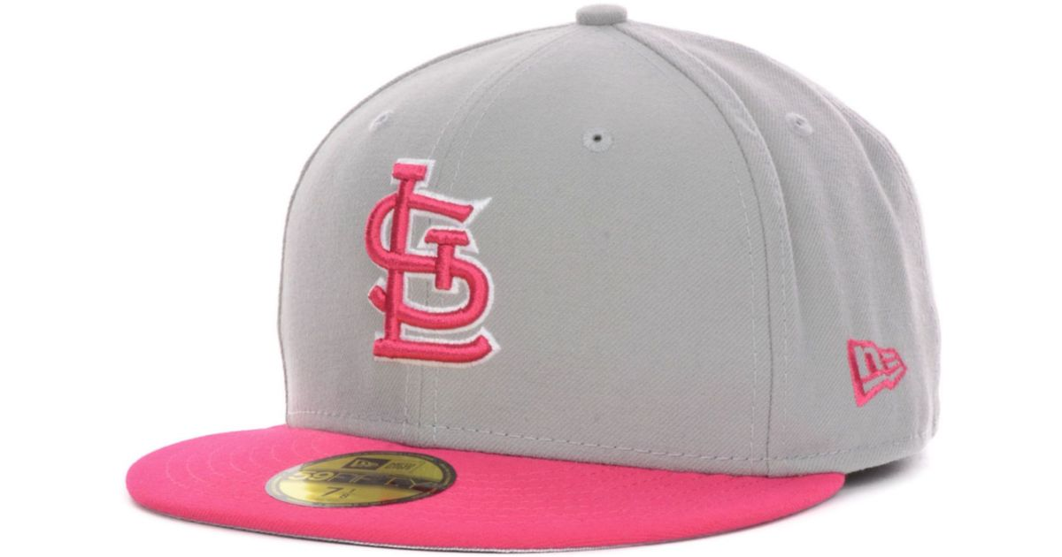 huge selection of 2aa57 8004a ... aliexpress lyst ktz st louis cardinals mlb 2t custom 59fifty cap in  pink for men 8d14b