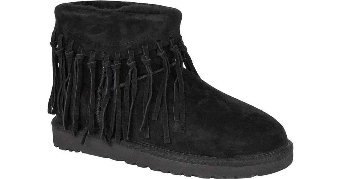 572ae4fe067 UGG - Black Wynona Fringe Boot - Lyst