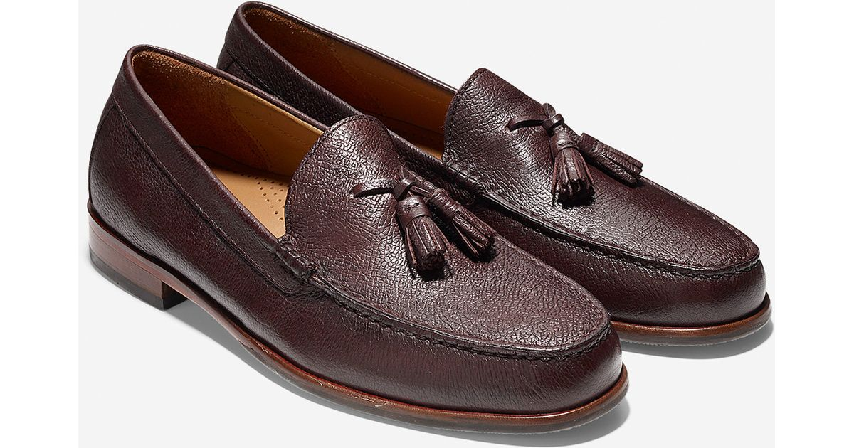 563b9ae791d Lyst - Cole Haan Fairmont Tassel Loafer in Brown for Men