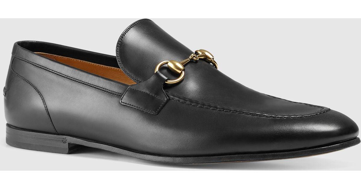 5c1906fbdf1 Gucci Jordaan Leather Loafer in Black for Men - Lyst