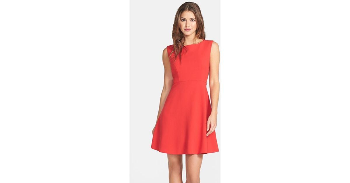 57e66f70704 Lyst French Connection 39feather Ruth39 Fit Flare Dress