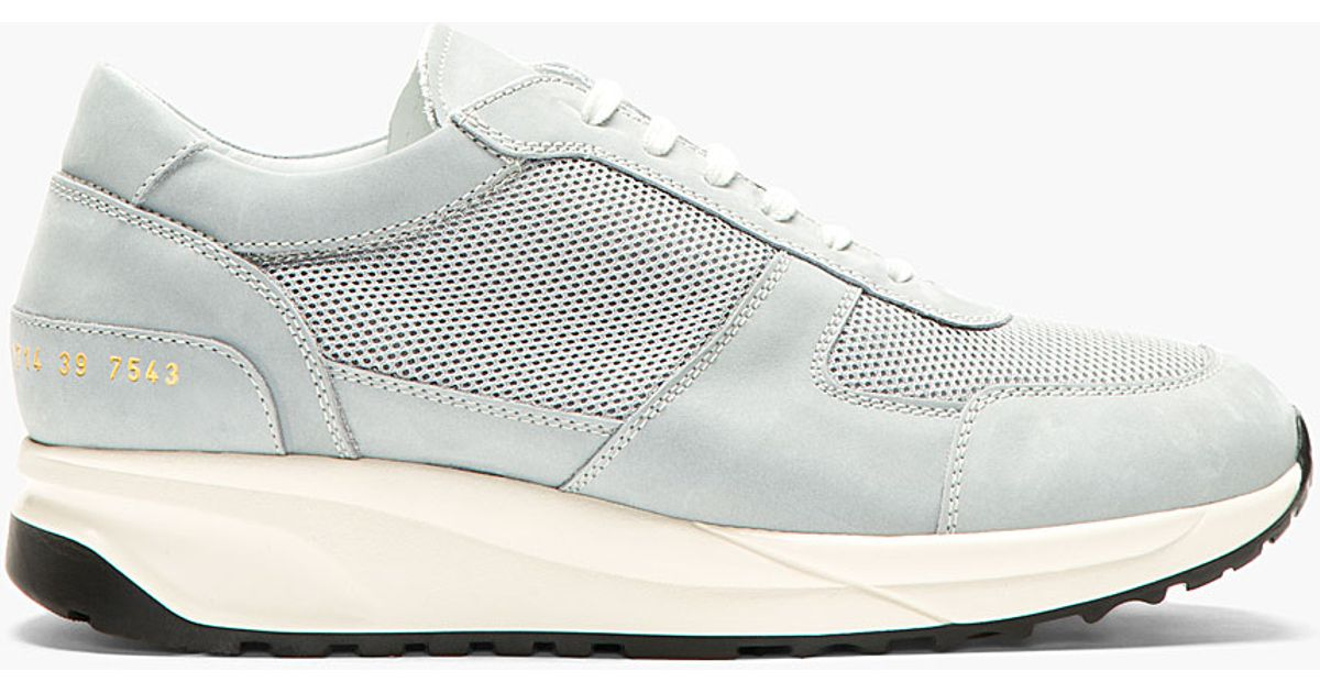 4a4657b2d76dc Lyst - Common Projects Grey Nubuck and Mesh Track Shoes in Gray for Men