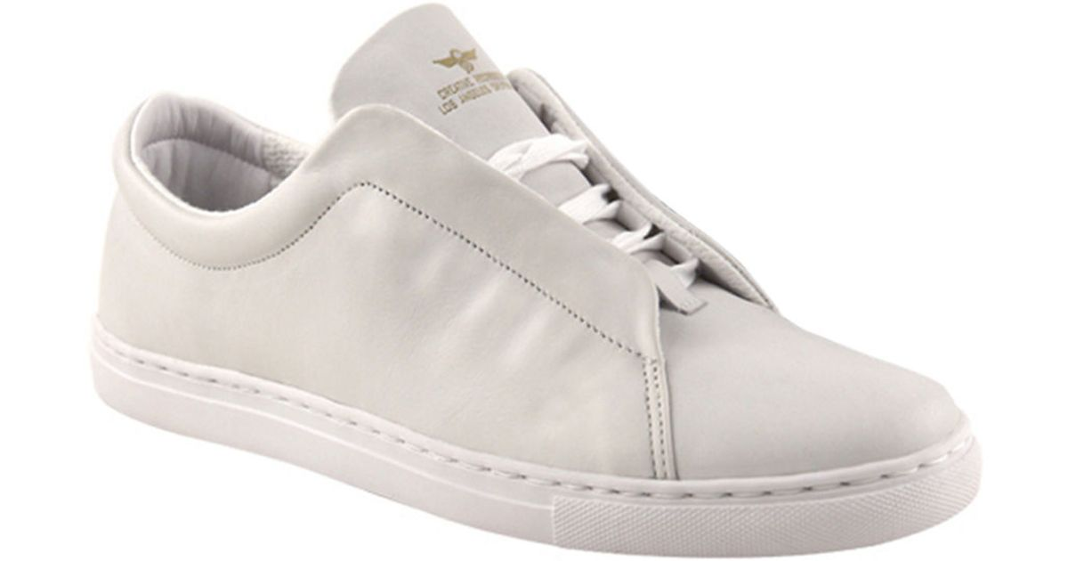 creative recreation leather sneakers in white lyst