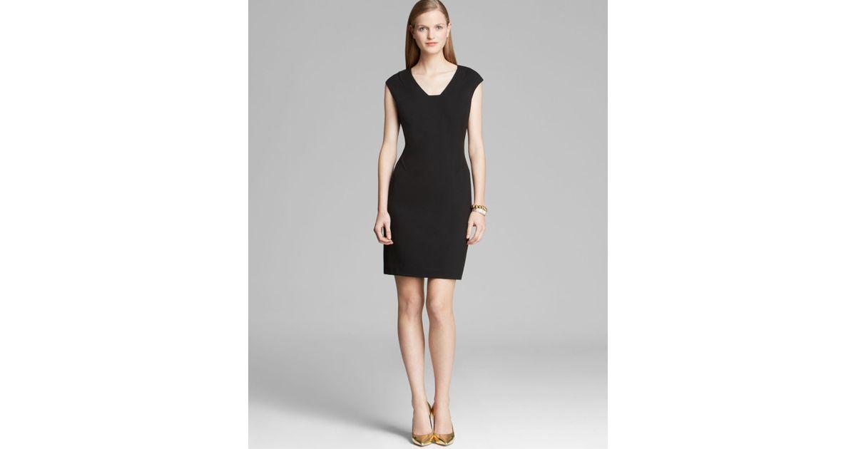 Lyst Calvin Klein Dress Cap Sleeve In Black