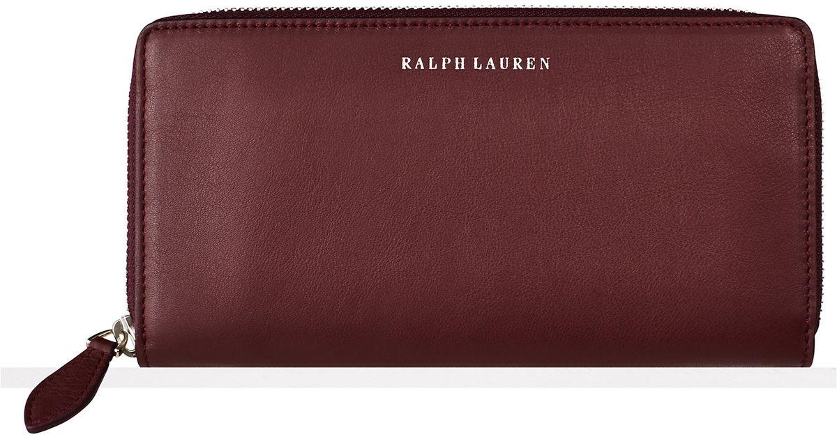 neuer Stil beste Auswahl an Shop für neueste Ralph Lauren Purple Soft Ricky Zip-around Wallet