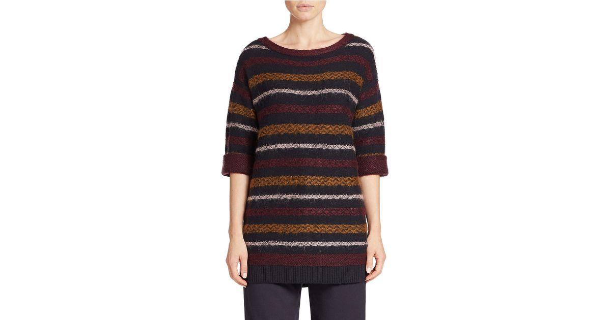424 fifth Reverse Fair Isle Tunic Sweater | Lyst