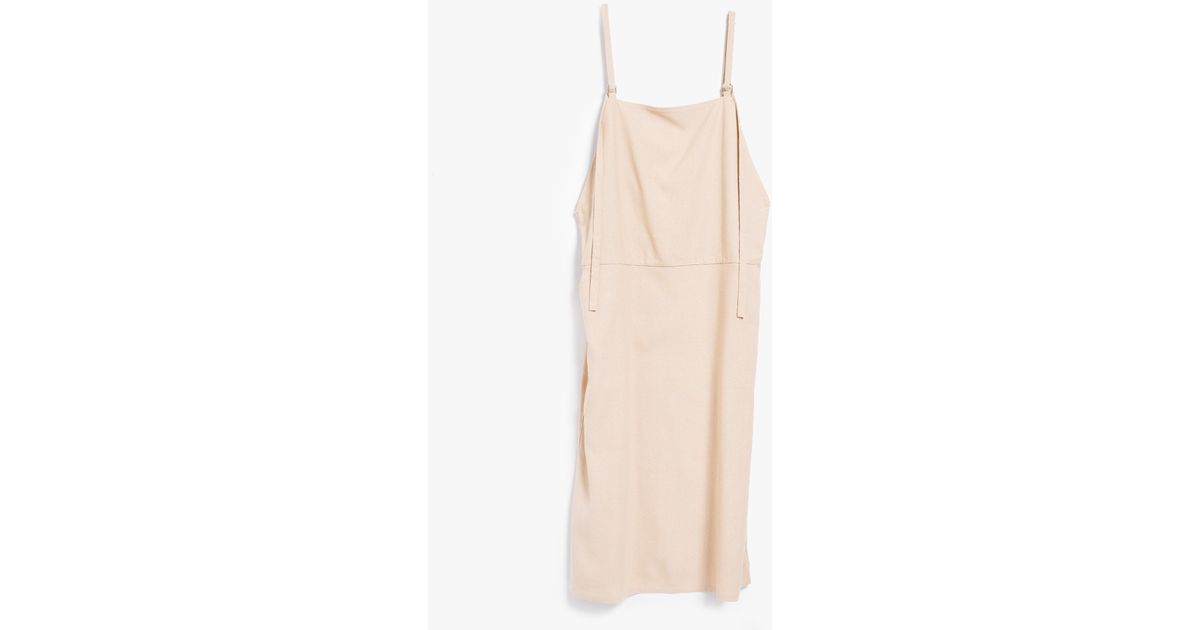49f2cb70d60 Lyst - Baserange Overall Dress In Sand in Natural
