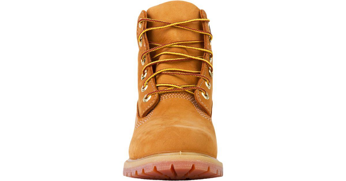 c4532191f98 Timberland Natural Women's 6-inch Premium Waterproof Boots In Wheat Nubuck