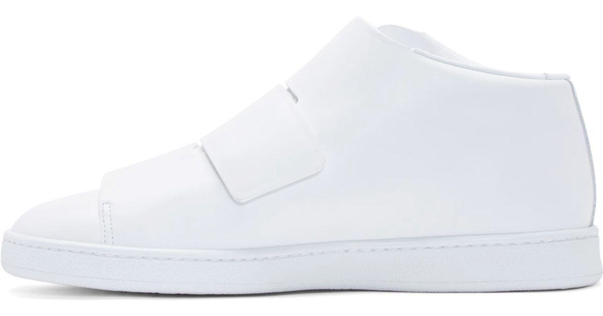 93ca80c6aead0 Lyst - Acne Studios White Triple Mid-top Sneakers in White for Men