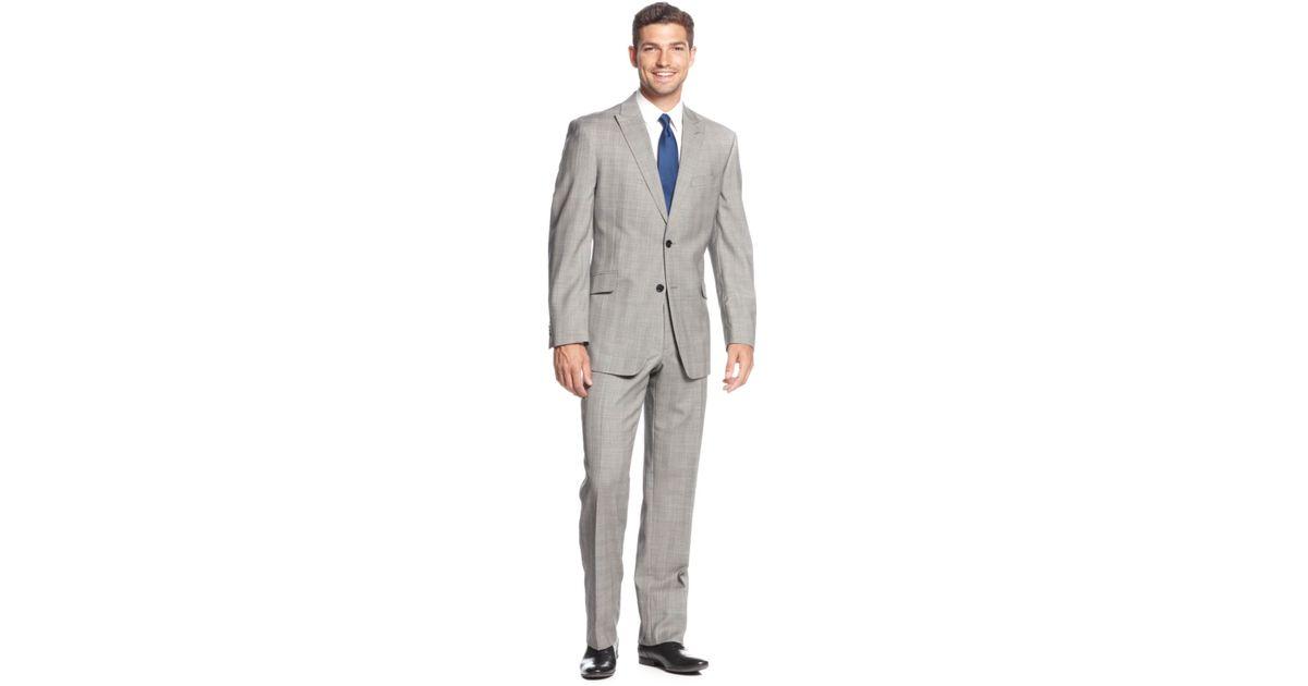 f9bb87e854f1e5 Tommy Hilfiger Classic-Fit Peak Lapel Glen Plaid Suit in Black for Men -  Lyst