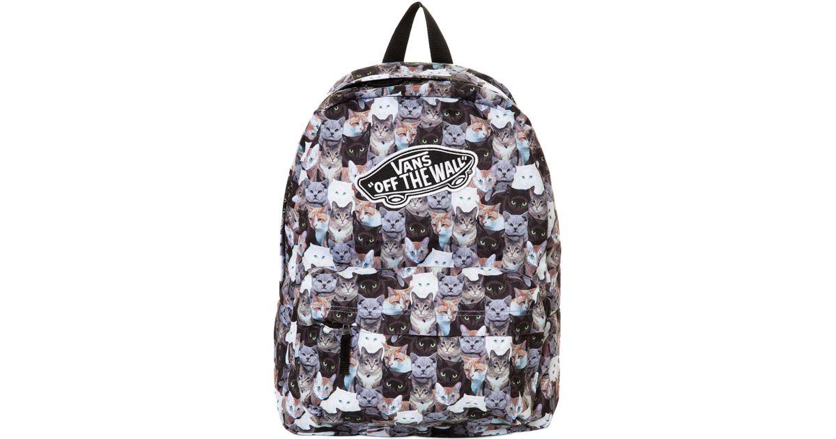 Lyst - Vans The X Aspca Realm Cat Backpack 544566d38f154