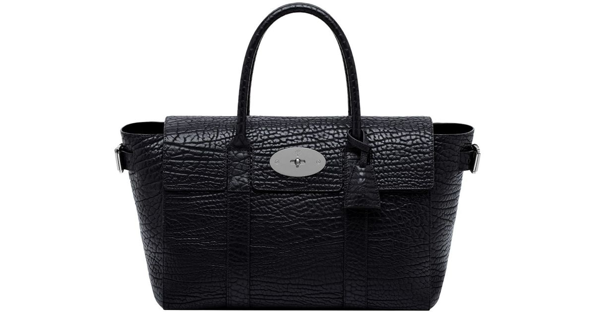 ... new zealand mulberry large bayswater shrunken leather bag in black lyst  5013b 9d8f2 8f8f95b8cee67