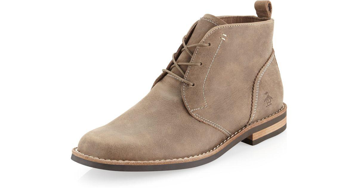 biggest selection fashionable patterns 2019 original Original Penguin Brown Merle Chukka Boot for men