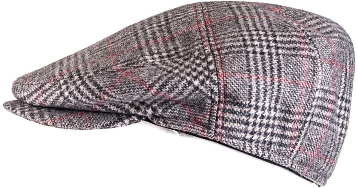 7623b7025e4 Lyst - Black.co.uk Prince Of Wales Check Cashmere Flat Cap Description  Delivery   Returns Reviews in Red for Men