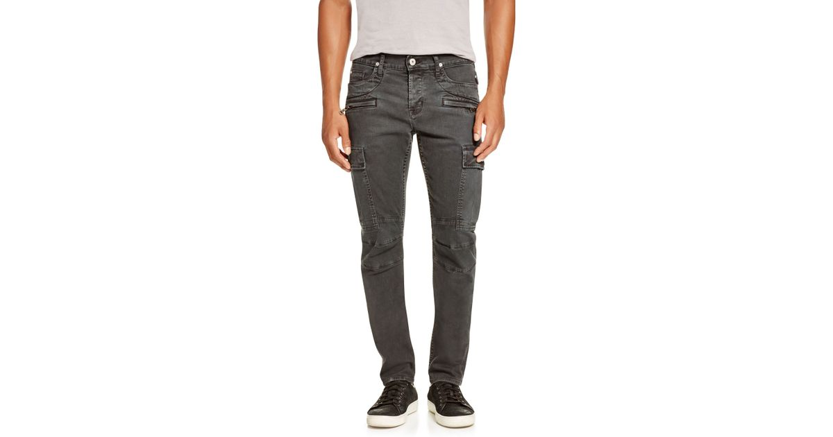 green army skinny men/'s cargo biker pants s 30 Hudson greyson jean