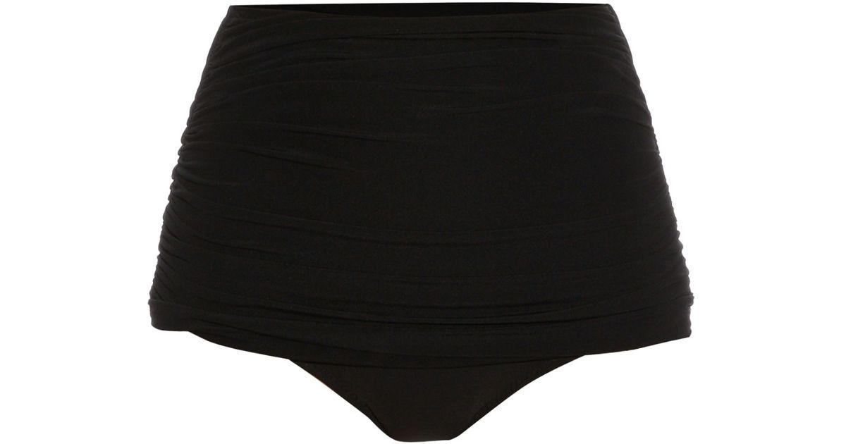 Bill Ruched Bikini Briefs - Black Norma Kamali Buy Online New E3wREcCt