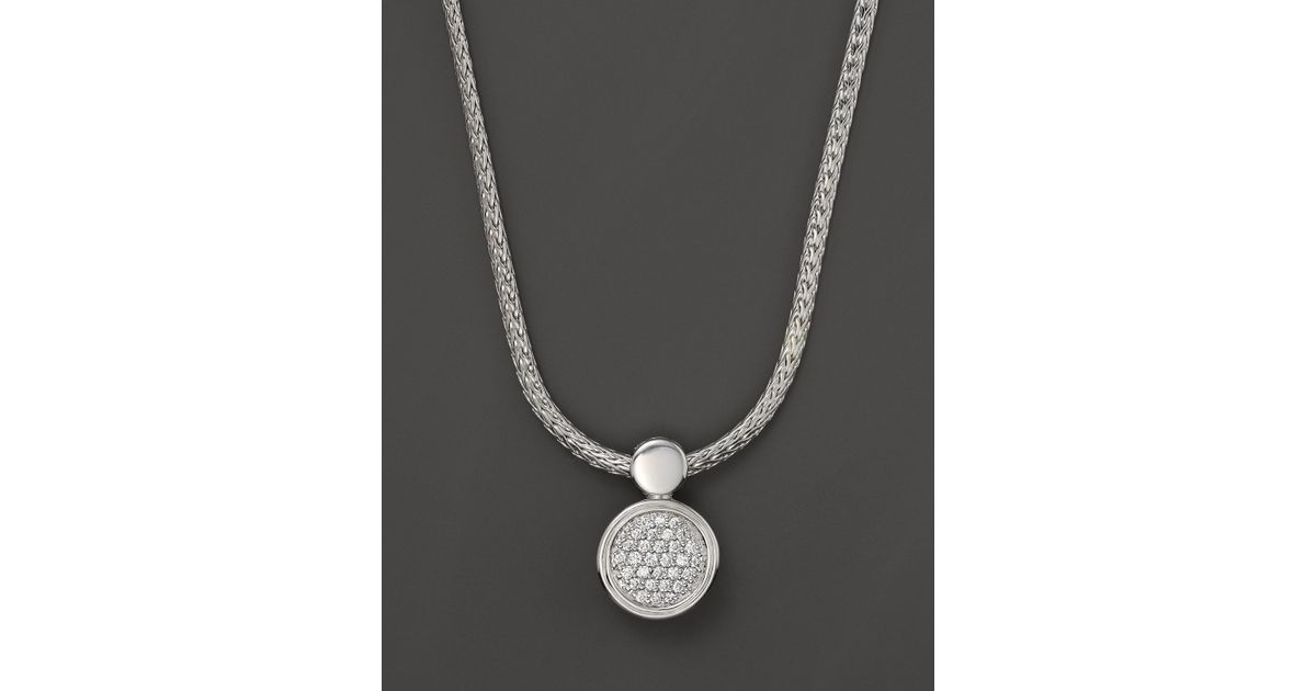 John Hardy Dot Round Diamond Pendant 9UfUEjgED