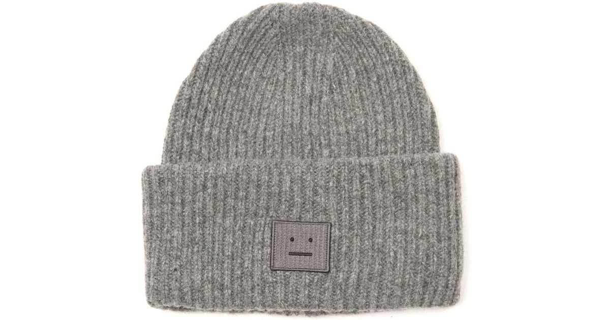 58a347c12 Acne Studios Gray Pansy Ribbed-Knit Wool Beanie