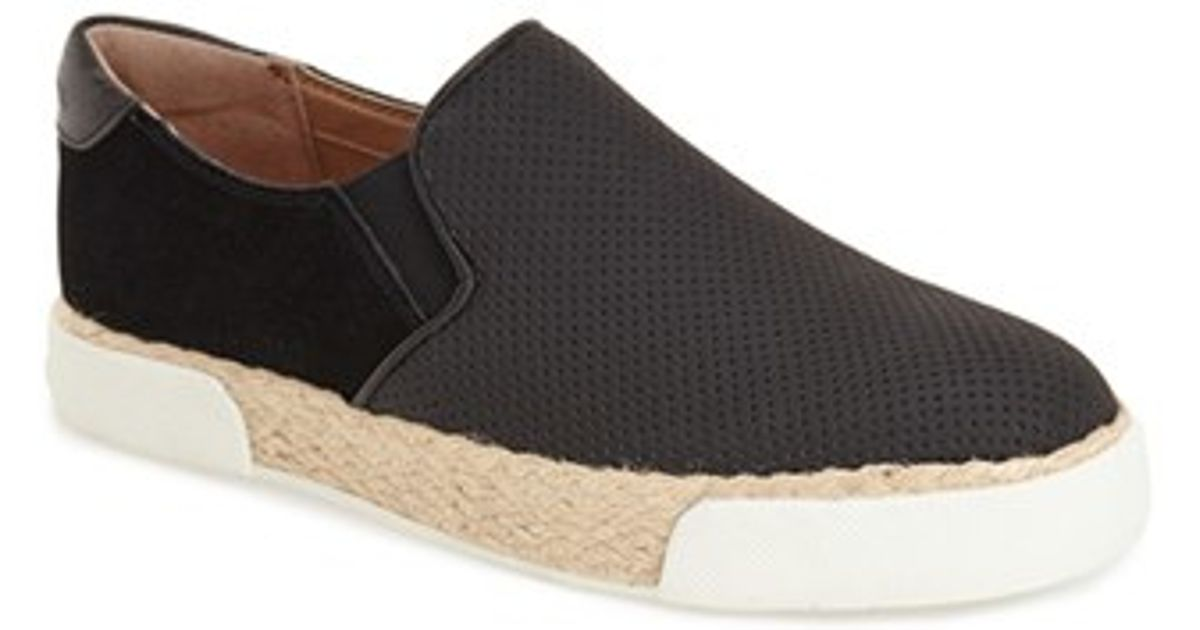 389c6ab54a70ad Lyst - Sam Edelman  banks  Perforated Slip-on Sneaker in Black