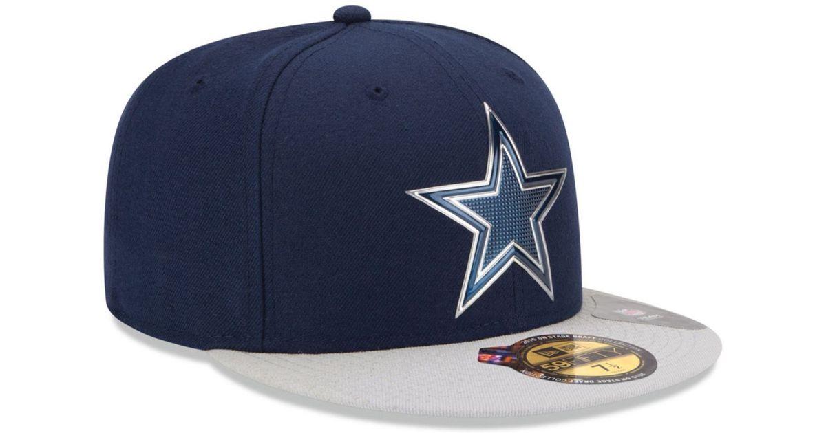 Lyst - Ktz Dallas Cowboys 2015 Nfl Draft 59fifty Cap in Blue for Men b3b437804bee