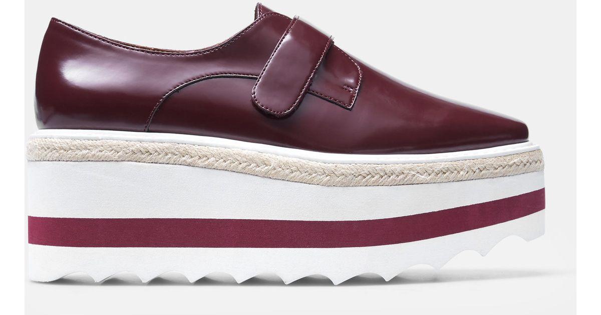 a7b83372ca36 Lyst - Mango Contrast Platform Shoes in Purple