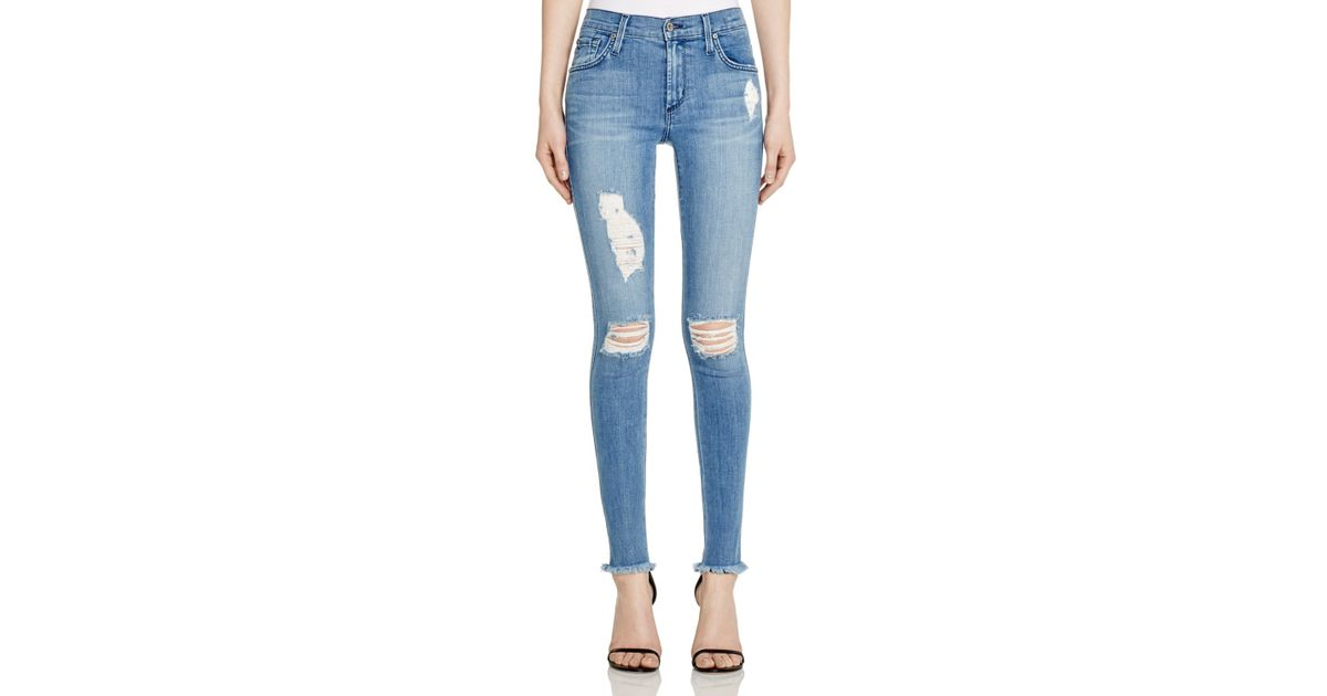 09a9c084faf184 James Jeans Five Pocket Ankle Legging Jeans In Splash in Blue - Lyst