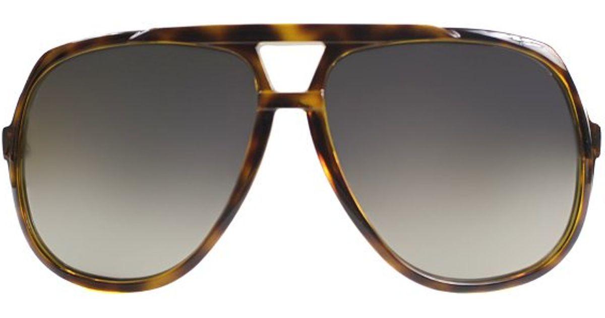 50d2ff74686 Gucci Gg 1622 791 Vd Havana Plastic Aviator Sunglasses Gold Mirror Lens in  Brown - Lyst