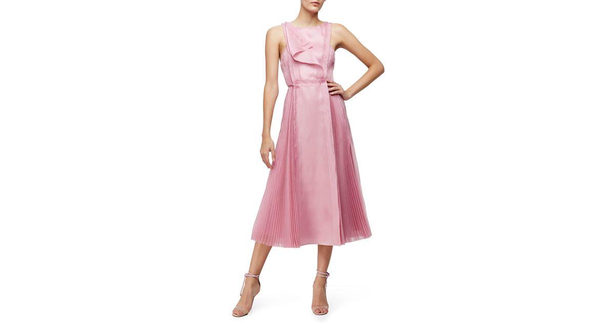fd108bab291d9 Carolina Herrera Pink Sleeveless Fit-&-flare Dress