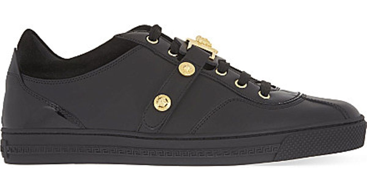 VERSACE Leather Trainers OyCkQ8