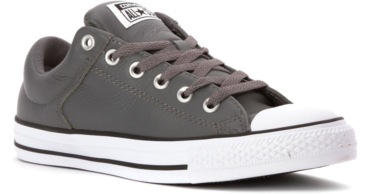 cb1d3f55ead8 Lyst - Converse Chuck Taylor All Star Hi Street Ox Leather in Gray for Men