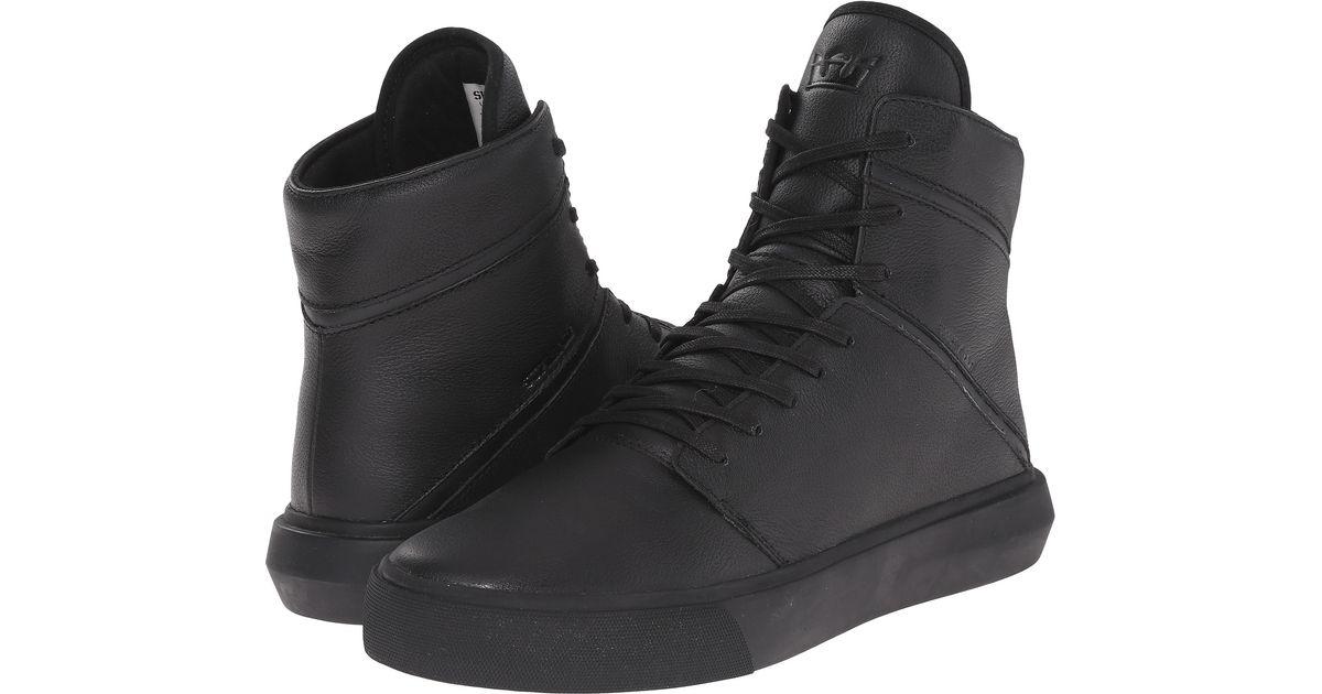 Supra Leather Camino in Black/Black