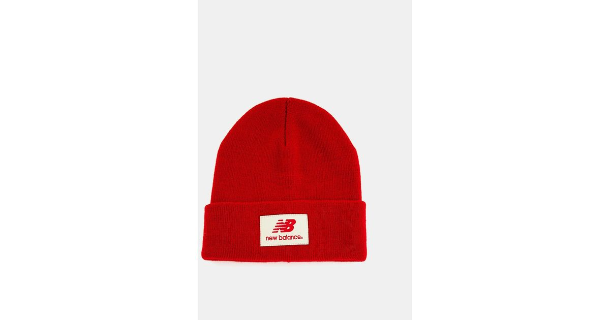0895b16a2c4651 New Balance Troy Beanie Hat in Red for Men - Lyst