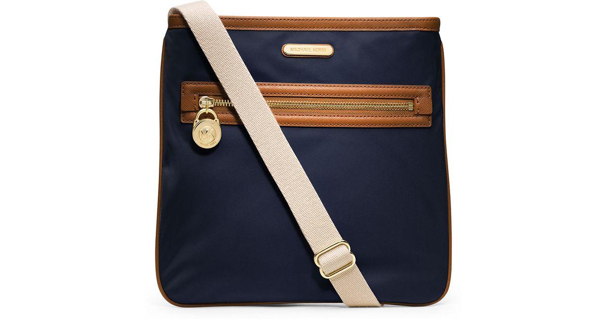 c8a7c0c22bbd5d Lyst - MICHAEL Michael Kors Kempton Nylon And Leather Large Crossbody Bag  in Blue