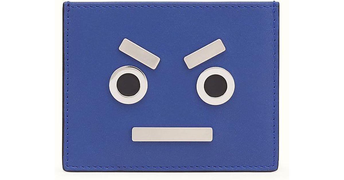 Lyst - Fendi Business Card Holder Business Card Holder in Blue for Men