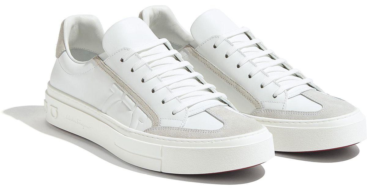 Ferragamo Lace Gancini Sneaker Shoe in