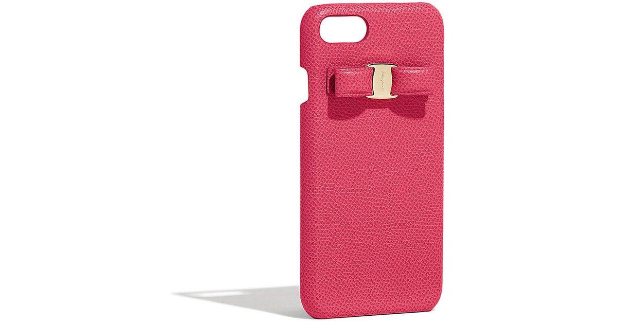 2e19bf53a6 Lyst - Ferragamo Vara Bow Phone Case
