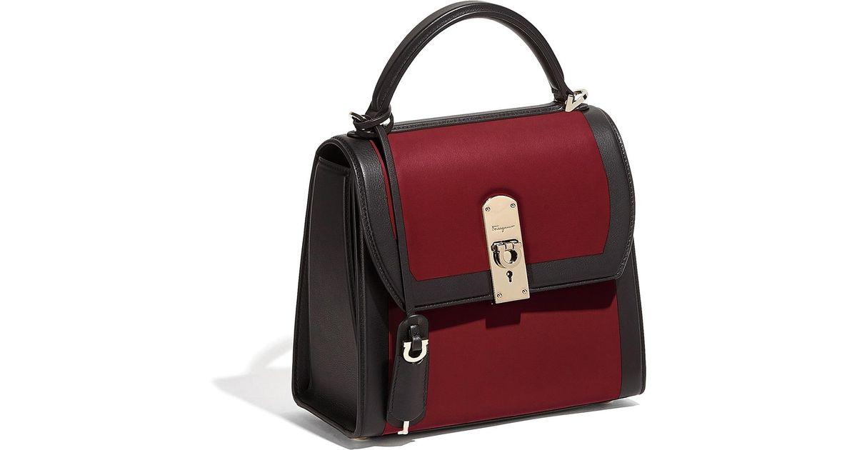 Ferragamo Leather Ferragamo Boxyz Bag in Red - Lyst
