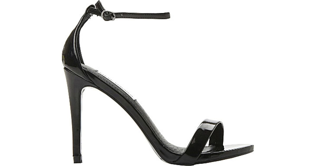 a8869633f5f Steve Madden Stecy Patent-leather Heeled Sandals in Black - Lyst