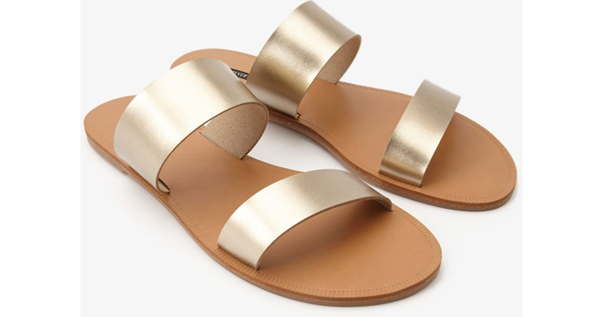 Forever 21 Double-Strap Sandals Expédition Bas xyppy
