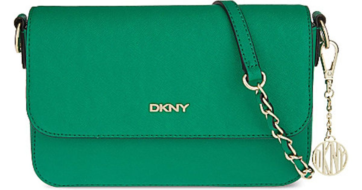 c6a7041b89 DKNY Bryant Park Saffiano Small Cross-body Bag - For Women in Green - Lyst