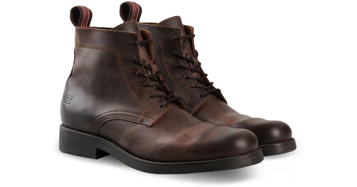 napapijri combat boots in brown for lyst