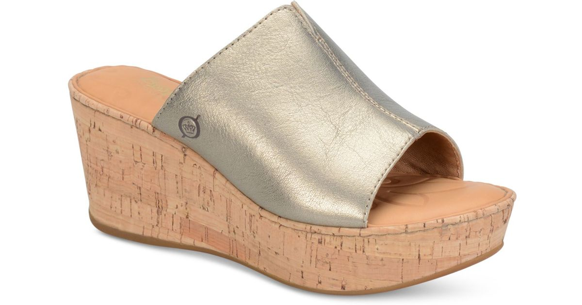 born wedge sandals in gold lyst