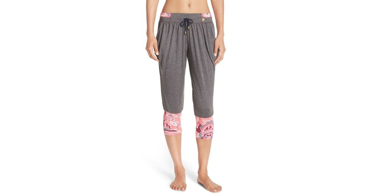 cf503a9b264a4 Lyst - Maaji 'breezy Om' Crop Yoga Pants in Gray
