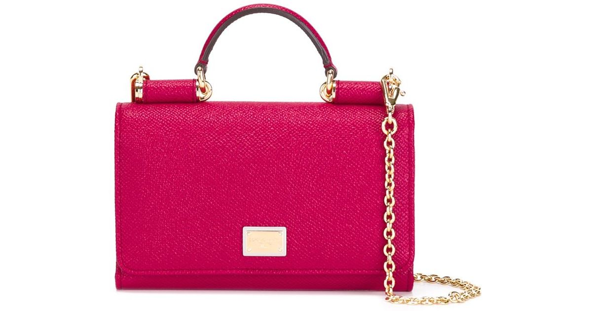 Lyst - Dolce   Gabbana Small  miss Sicily  Shoulder Bag in Pink 583d3958b2f61