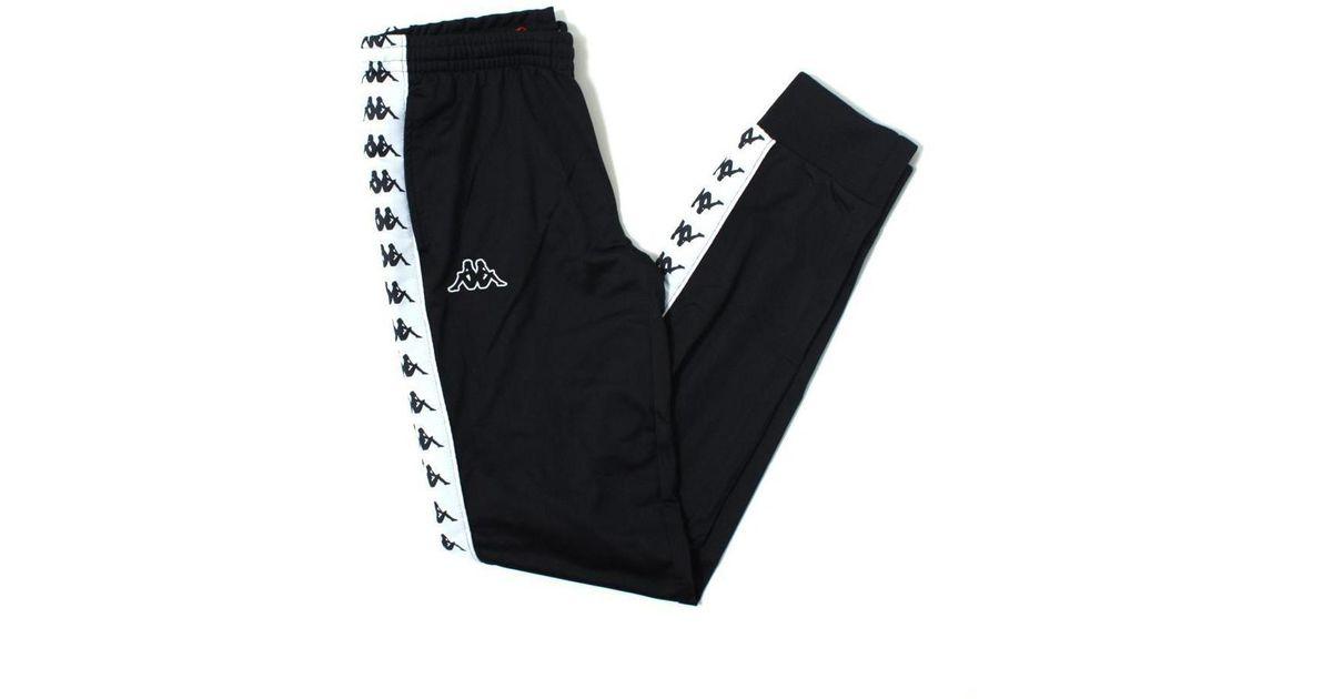 af4ea4e43c Kappa Women 222 Banda Wrastoria Slim Track Pants, Black/ White
