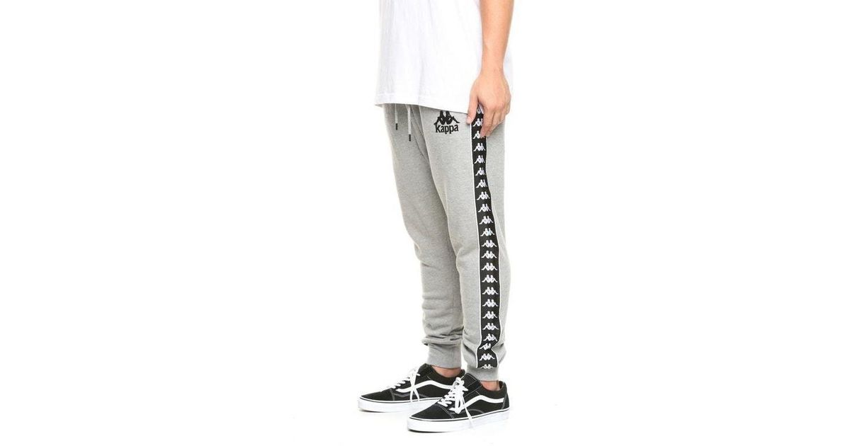 edf8c6c6 Kappa Gray 222 Banda Alanz Alternating Banda Sweatpants In Grey for men