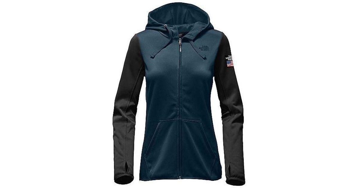 8a32b036b The North Face Women Ic Winter Olympics Half Dome Hoodie, Cosmic Blue/ Black